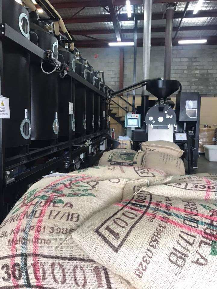 Elixir coffee roasting
