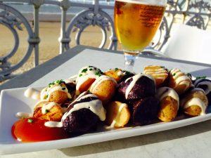 Patatas Bravas at La Perla