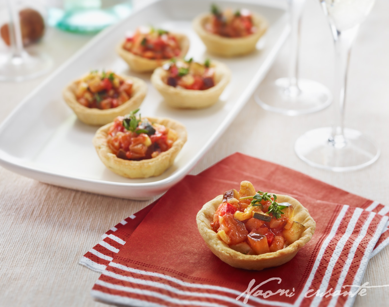 Goats Cheese and Ratatouille Tartlets
