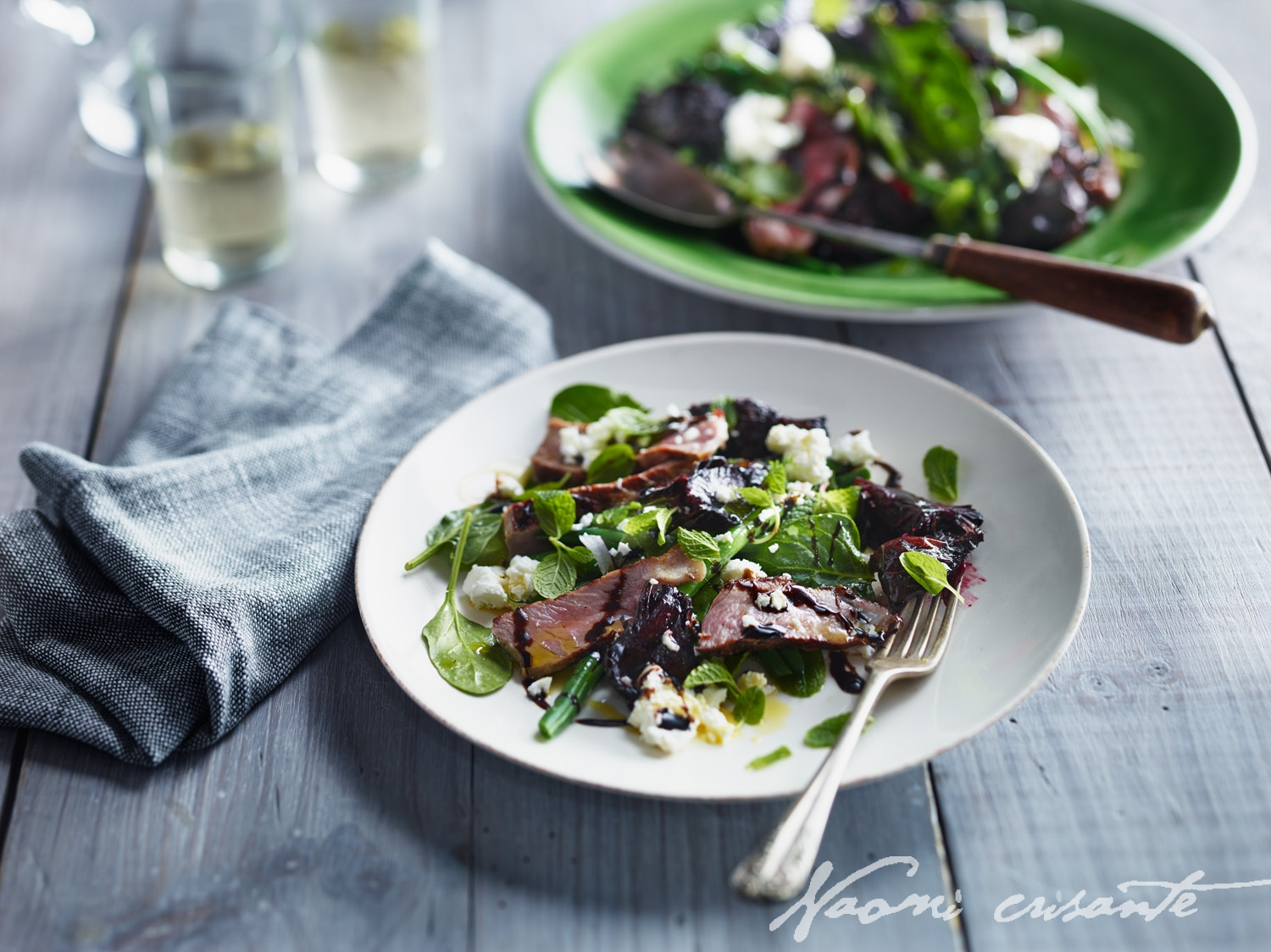 Grilled Beef, Beetroot, Mint and Feta Salad