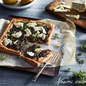 Balsamic Onion, Blue Cheese and Pear Tart