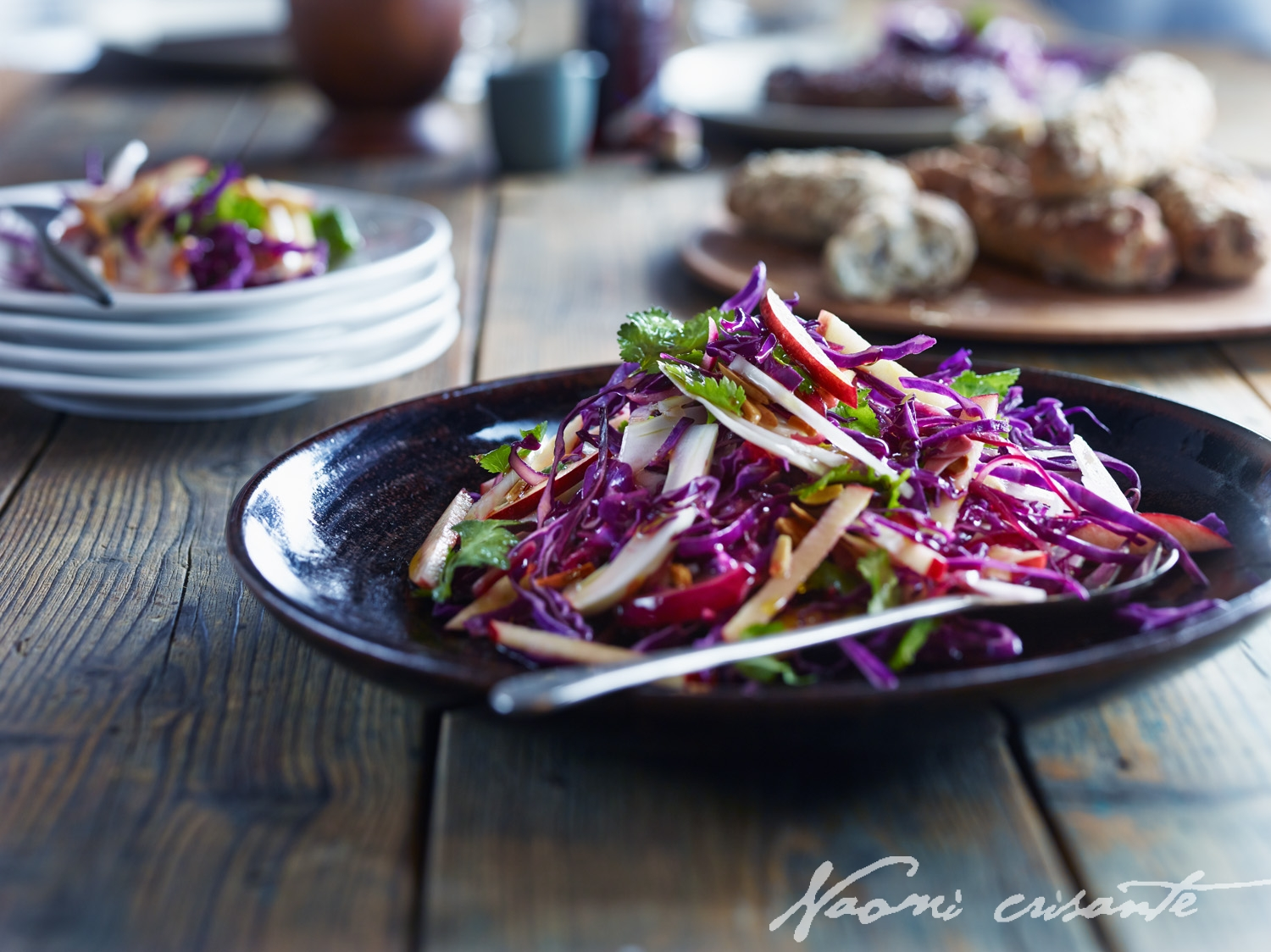 Red Cabbage, Fennel and Apple Slaw