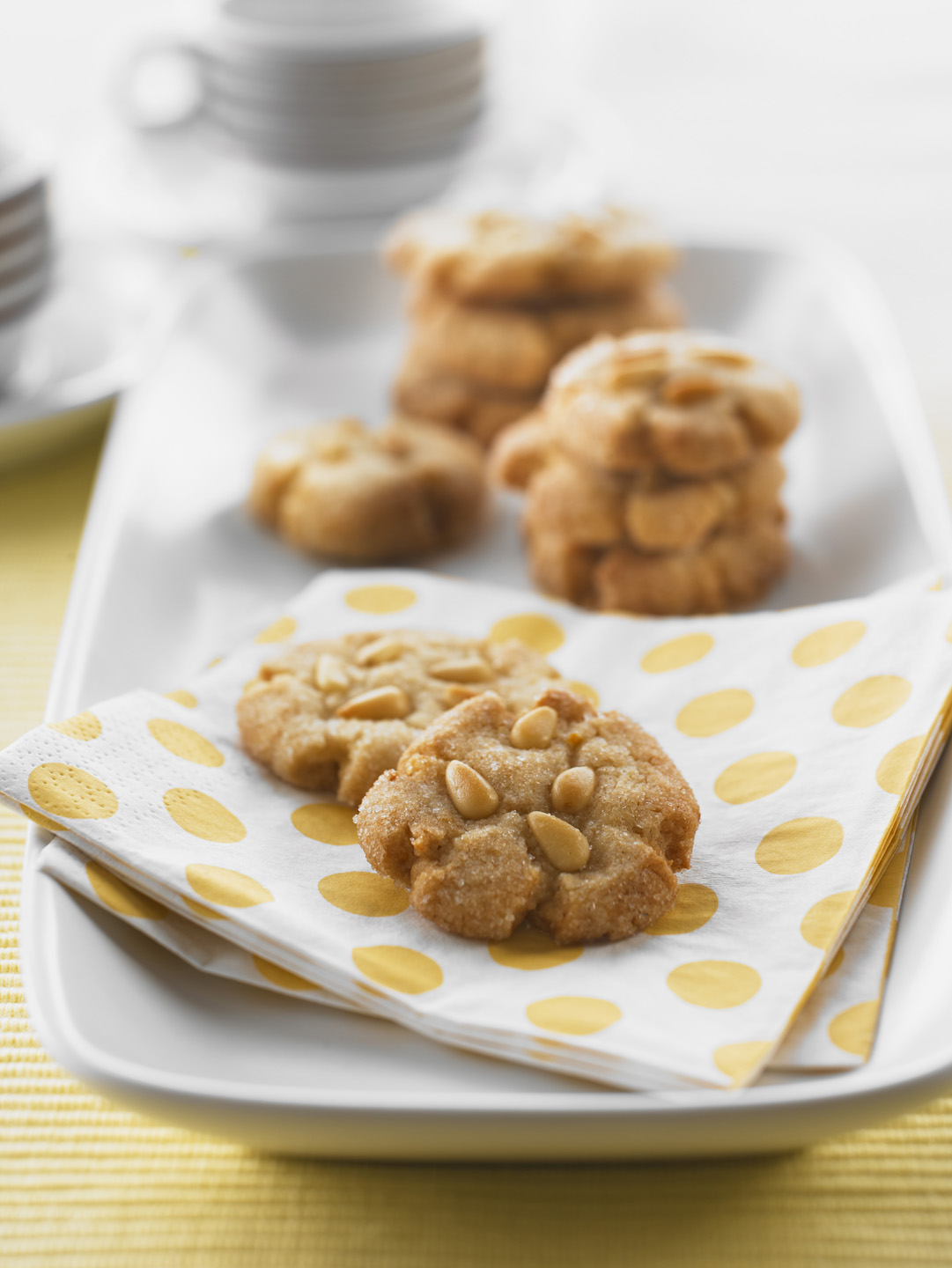 Sugared Pine Nut and Orange Biscuits