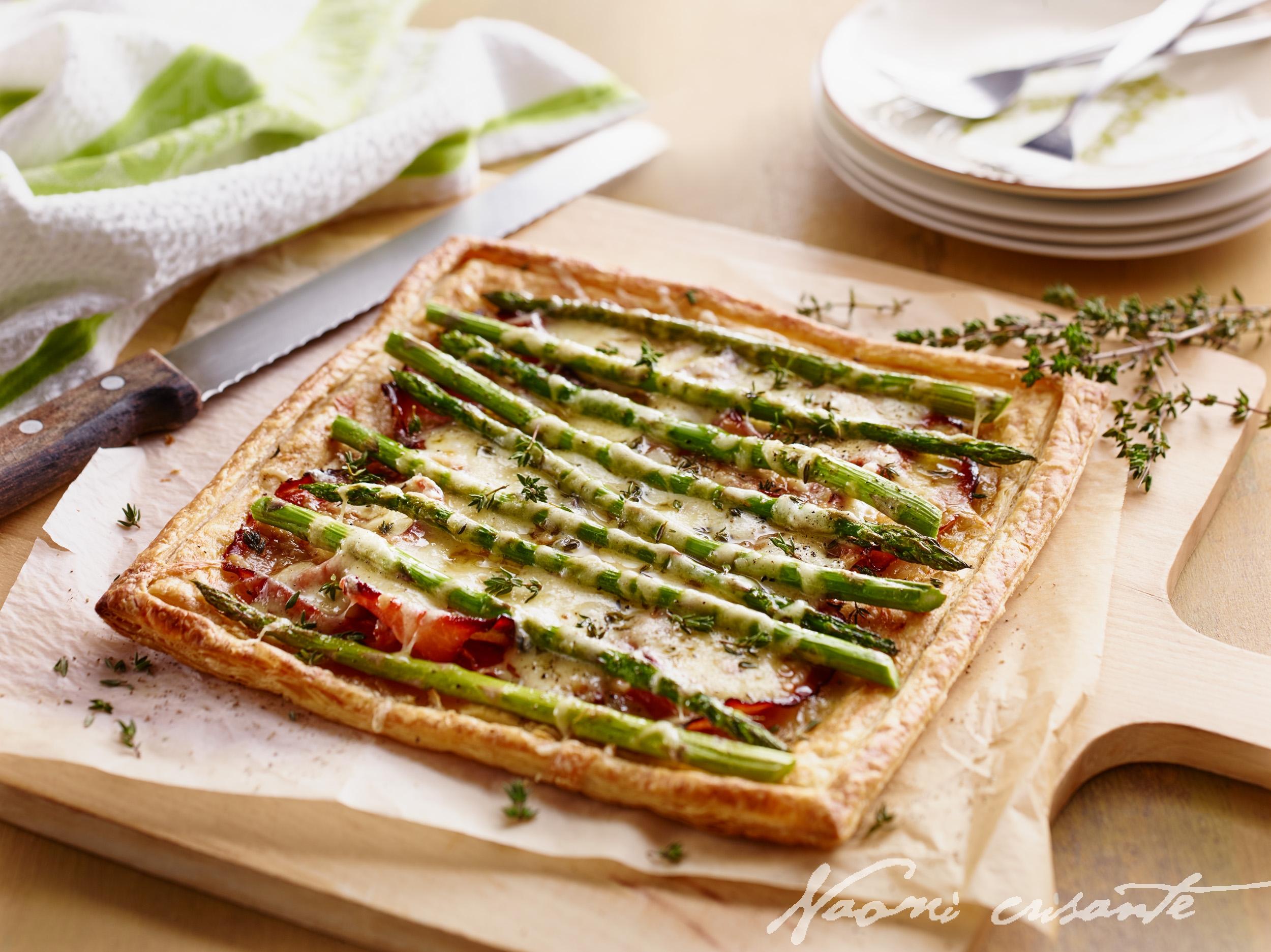 Havarti, Ham and Asparagus Tart