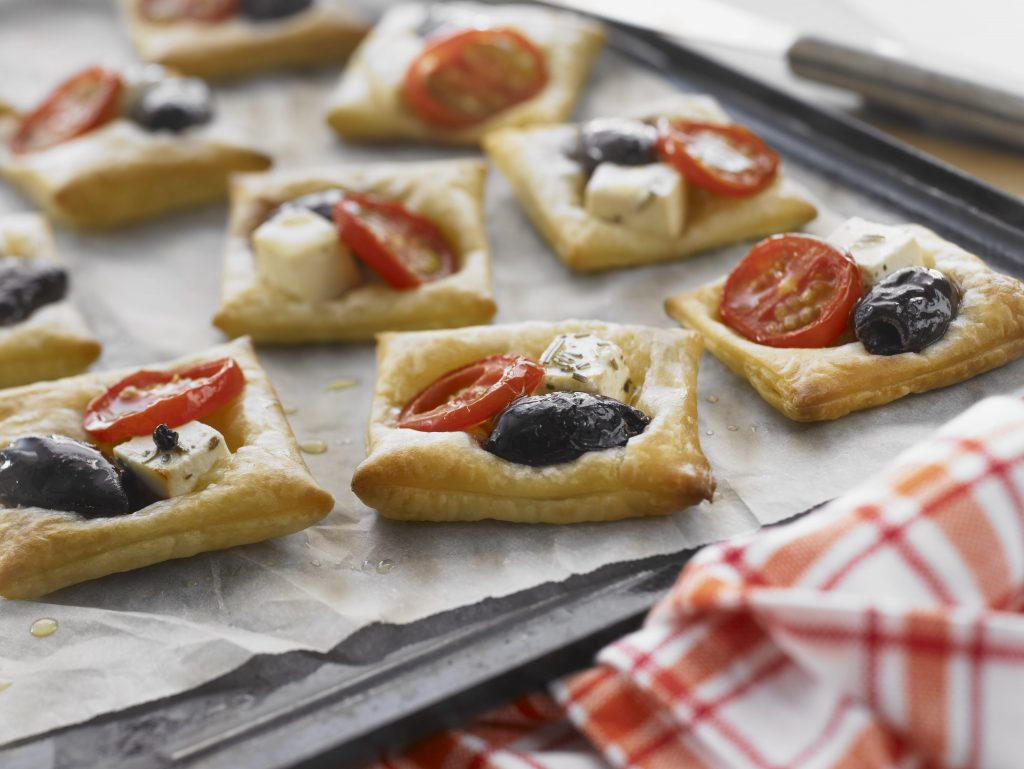 Tomato, Olive and Fetta Puffs