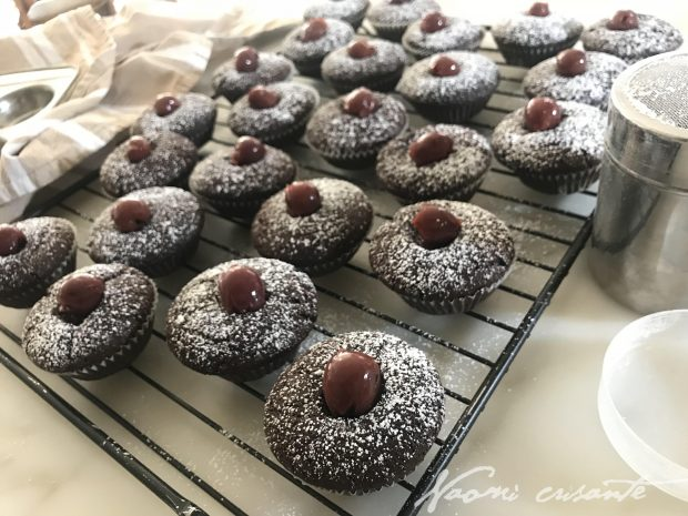 Choc Cherry Cupcakes - Eggfree