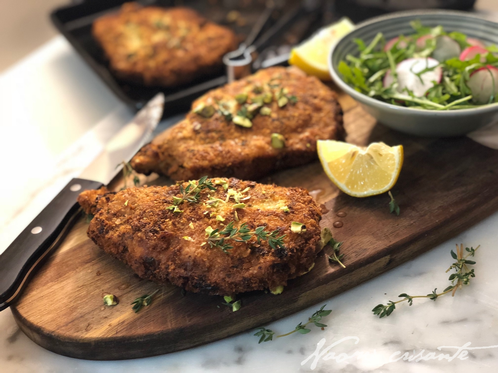 Pistachio Crumbed Pork Cutlets