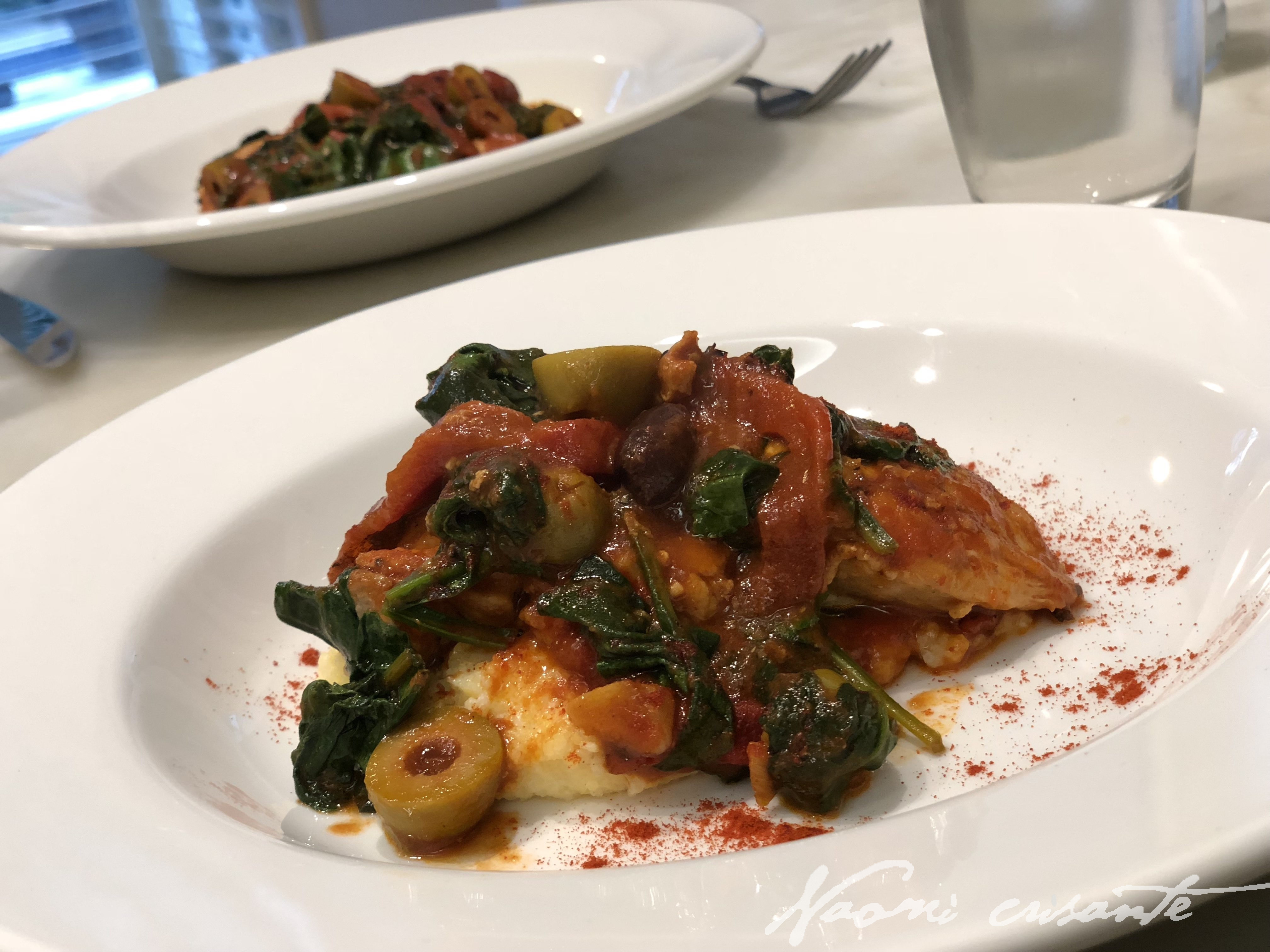 Spanish Chicken with Olives and Spinach