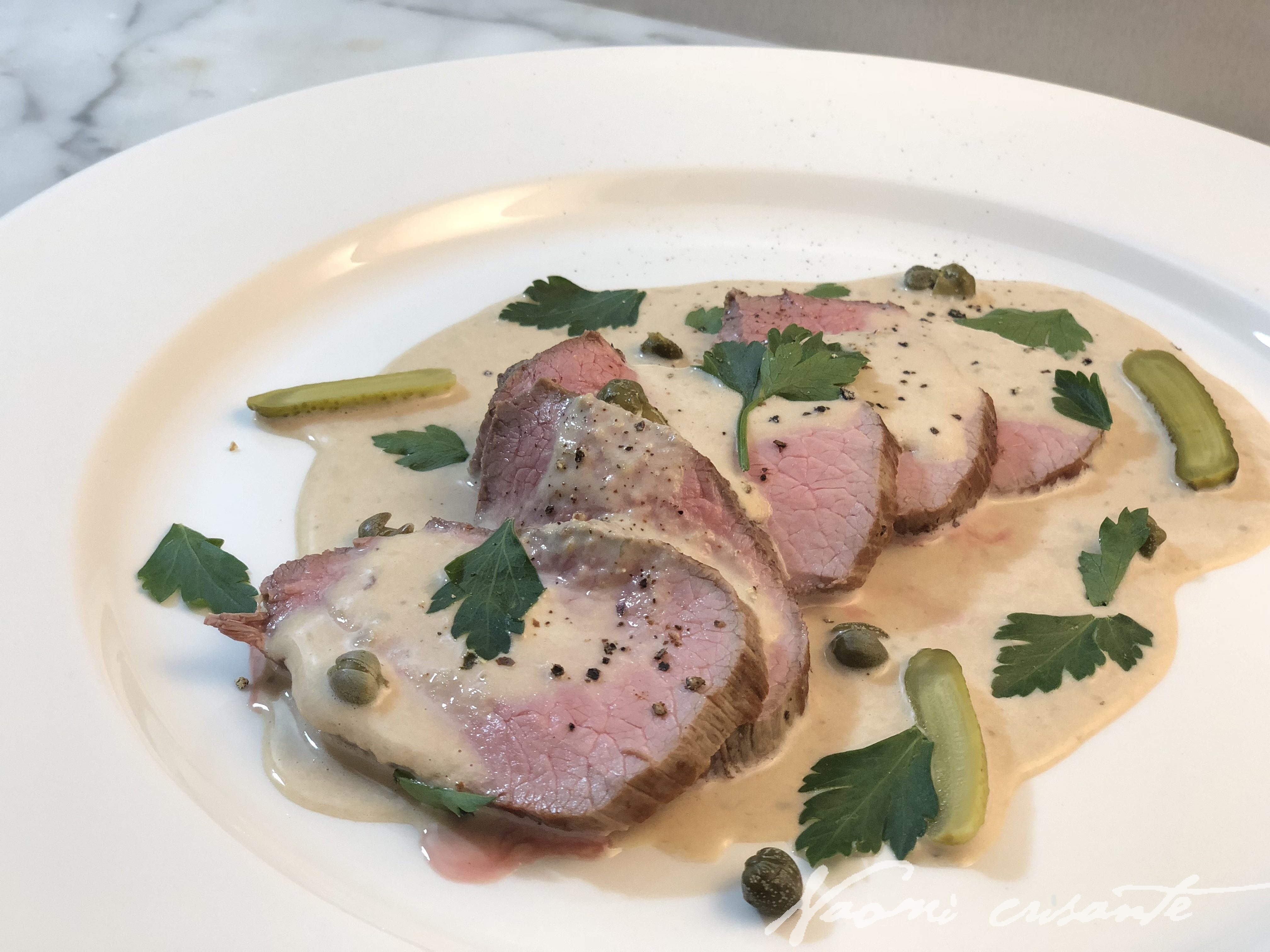 Vitello Tonnato - Italian Veal with Tuna & Caper Sauce