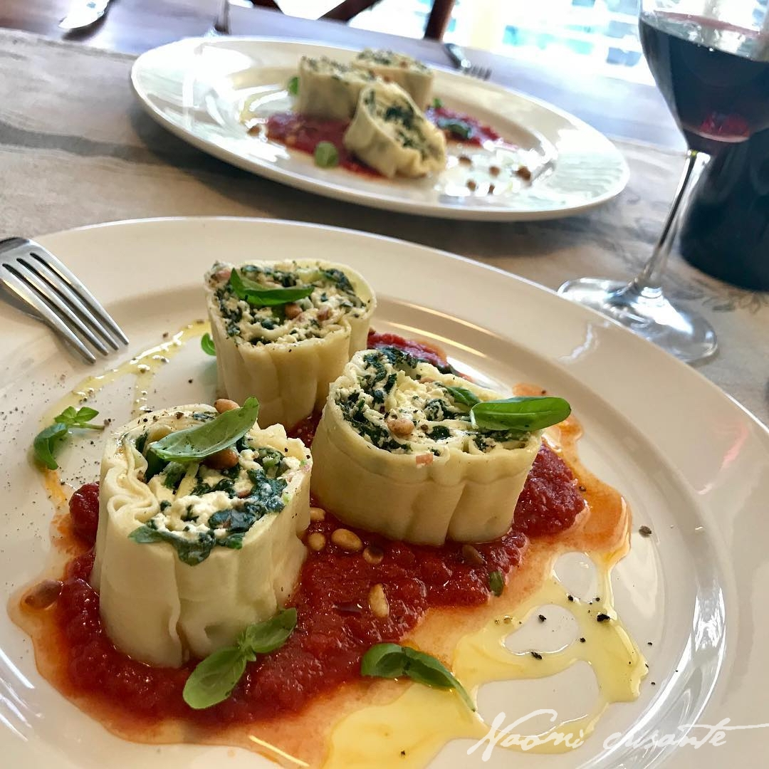 Spinach, Basil and Ricotta Rotolo