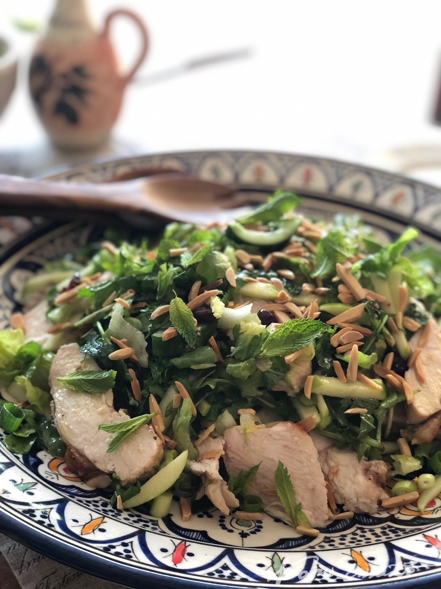 Chicken and Apple Mint Salad