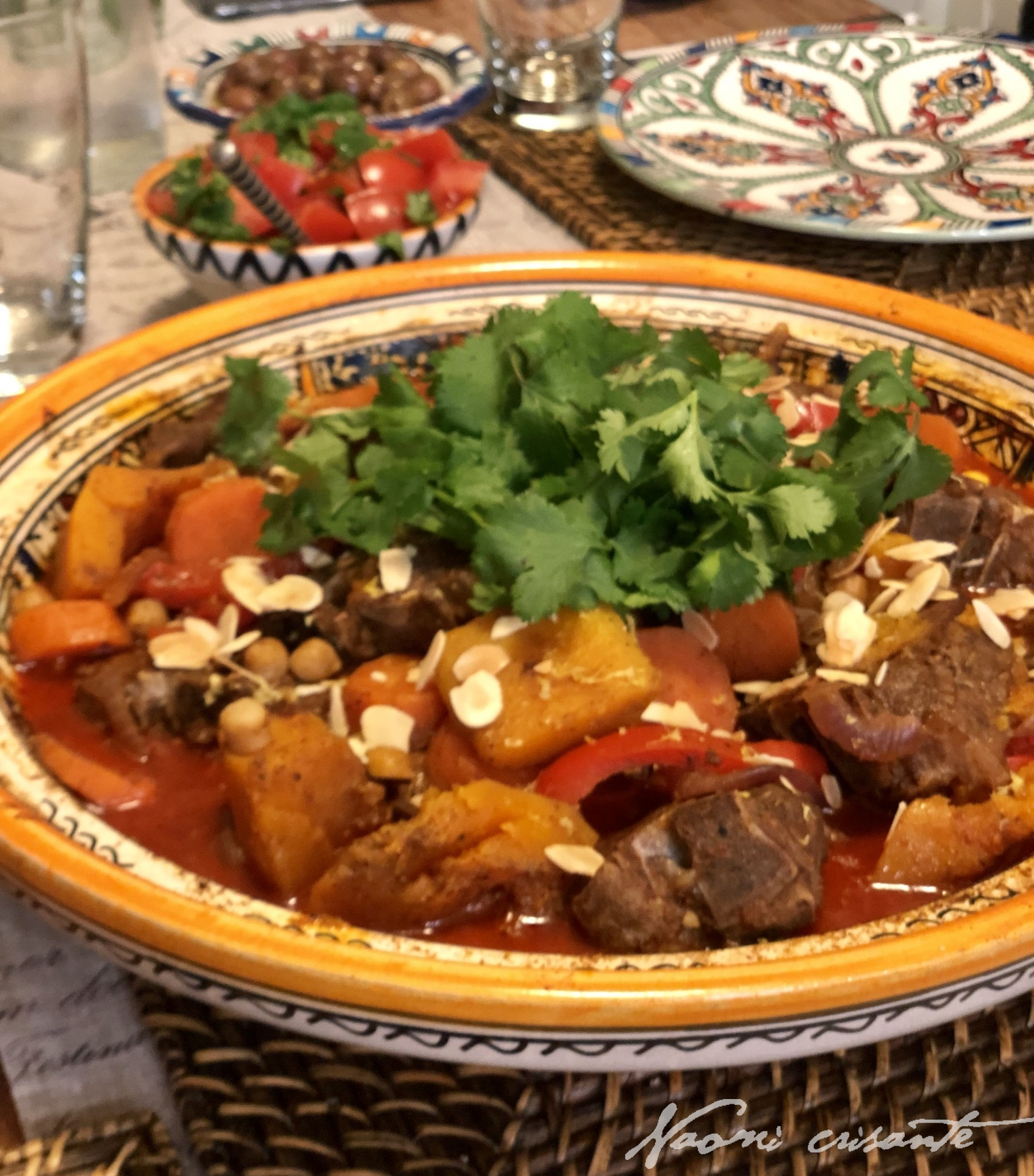 Moroccan Lamb Tagine with Pumpkin and Chick Peas