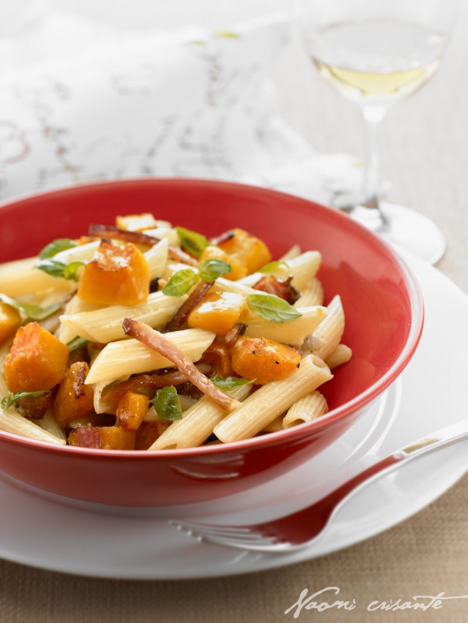 Roast Pumpkin and Bacon Penne Pasta