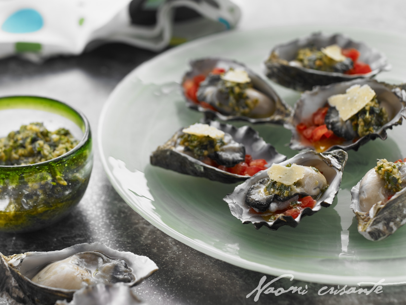 Parmesan Pesto Oysters
