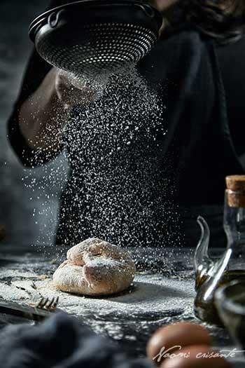 Dusting Pasta Dough wth Flour