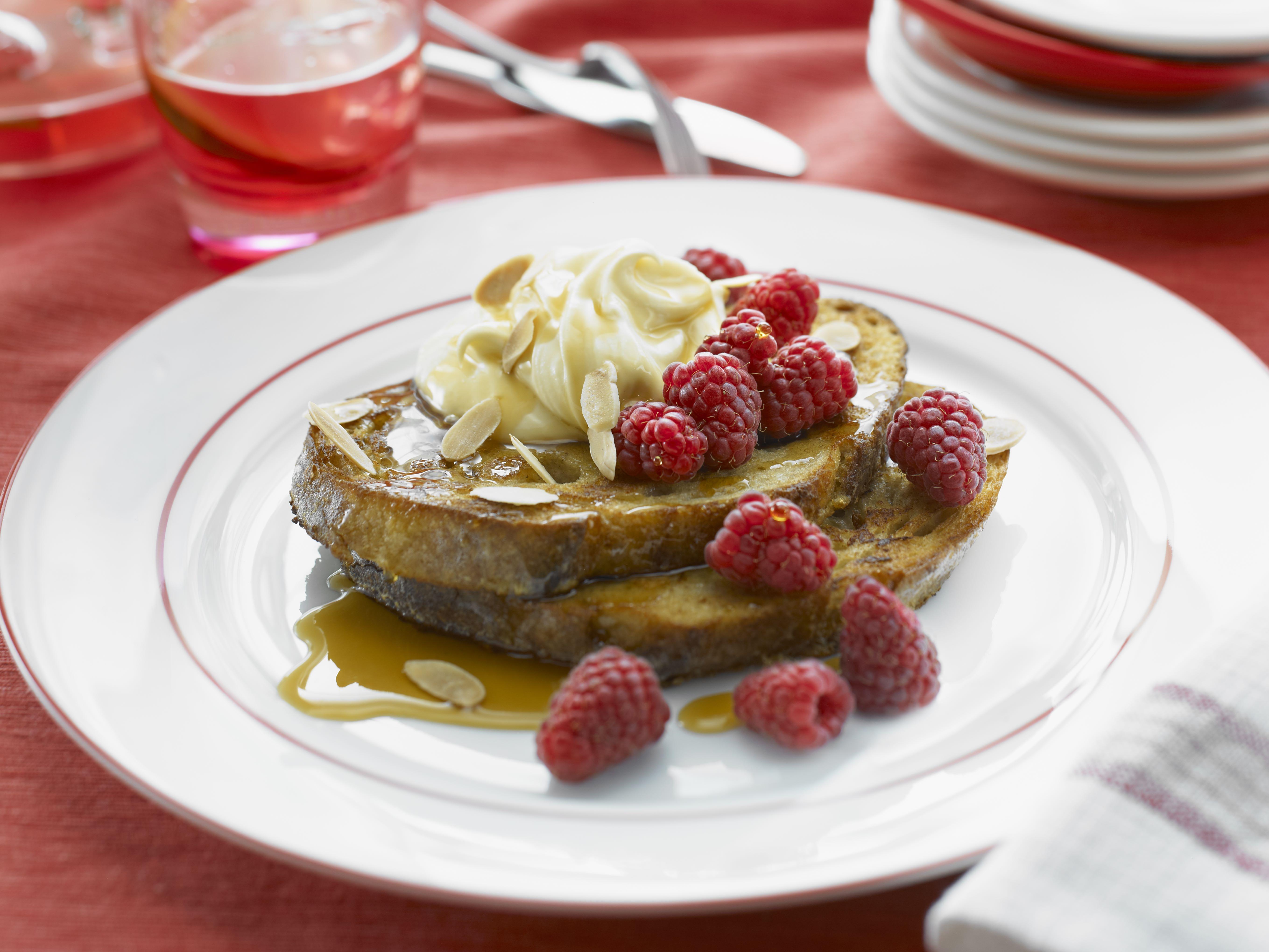 Raspberry French Toast with Maple Mascarpone